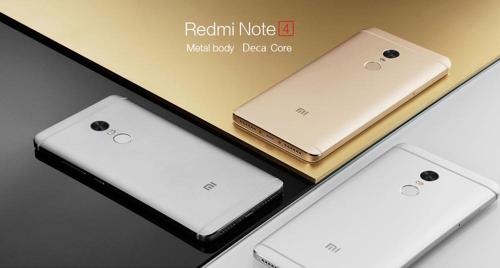 138 Avec Coupon Pour Xiaomi Redmi Note 4 4G Phablet