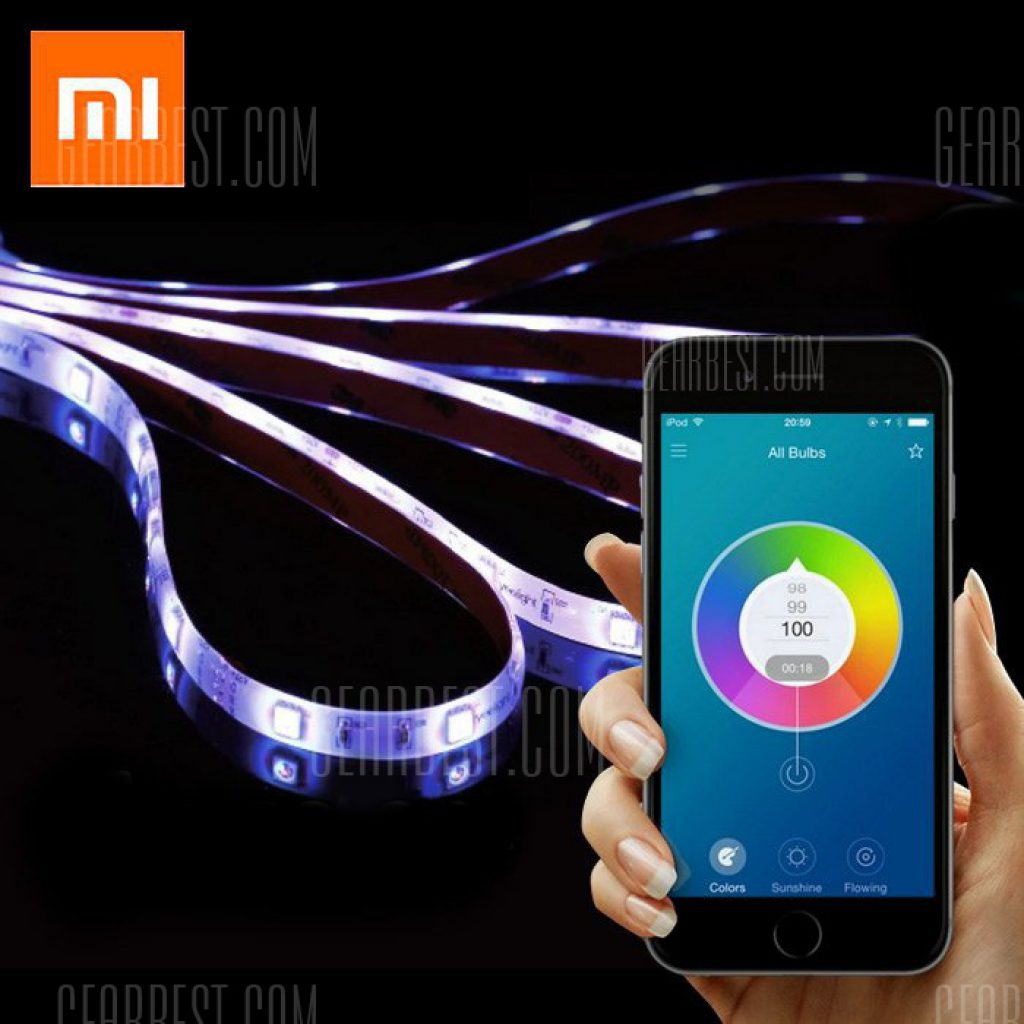 25 con cupn para original xiaomi yeelight smart light strip xiaomi yeelight smart light strip su iluminacin ambiental personal si ha estado buscando algo para crear el ambiente en su hogar ya sea para una fiesta aloadofball Image collections