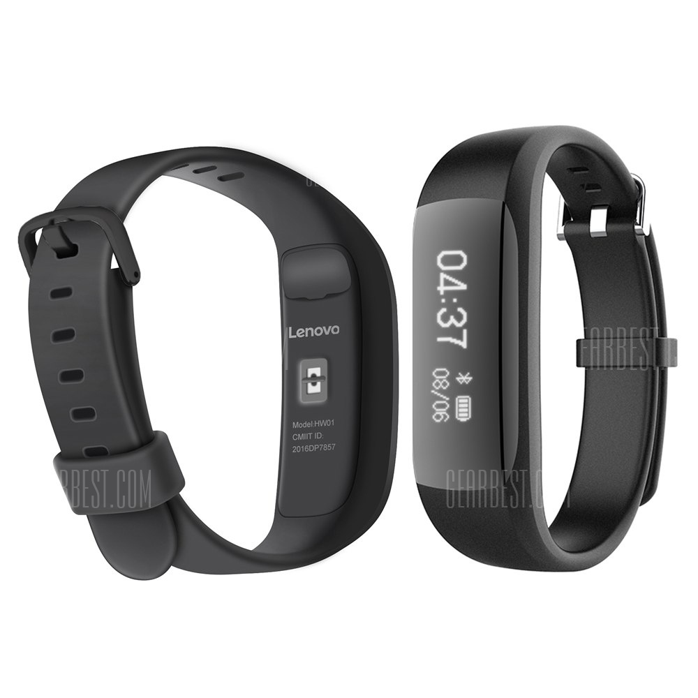 $17 with coupon for Lenovo HW01 Smart Wristband Black from ...