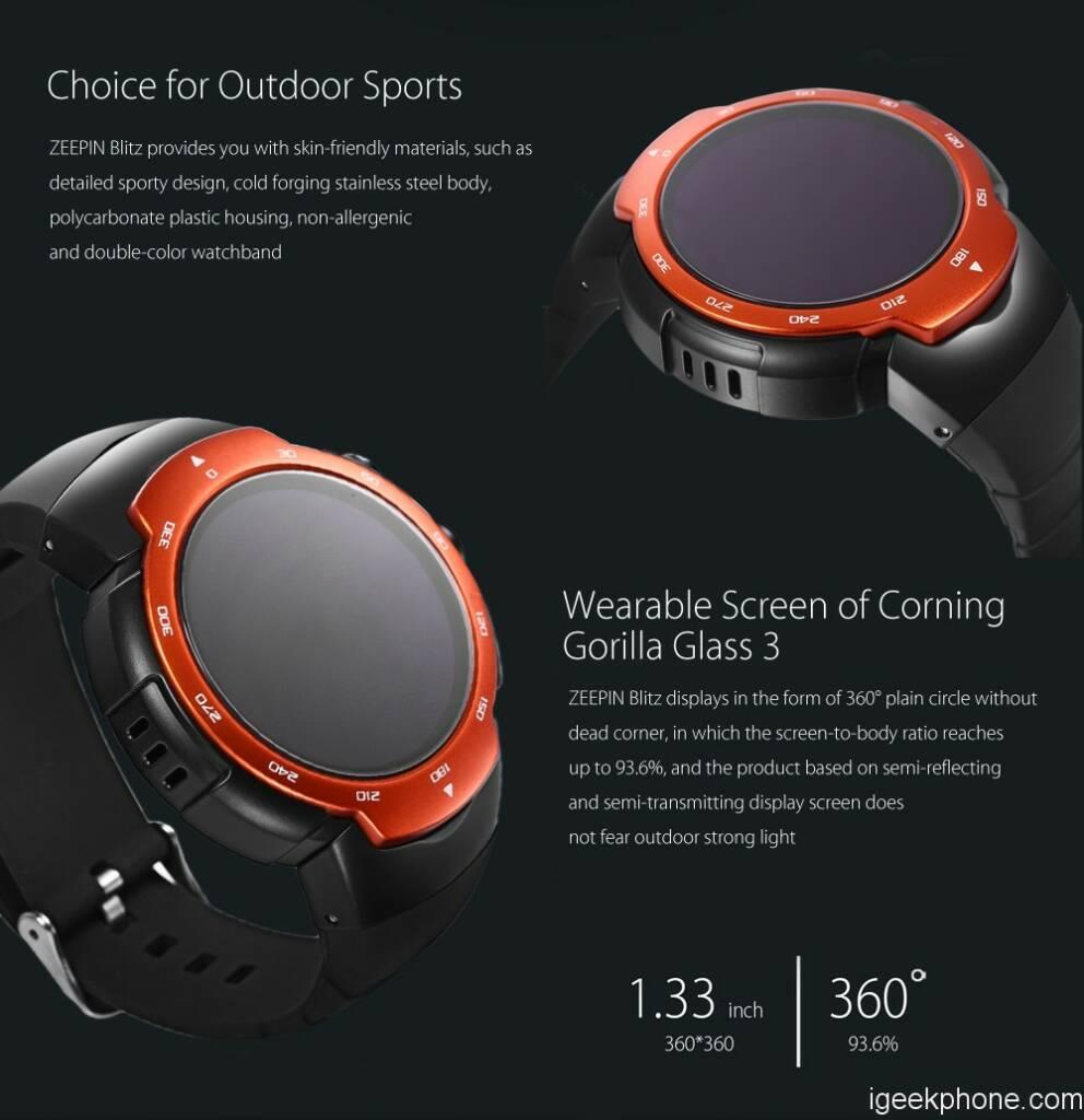 ZEEPIN Blitz 3G Smartwatch Phone