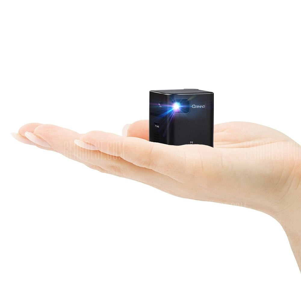 194 with coupon for orimag p6 portable smart mini dlp led for Mini wifi projector review