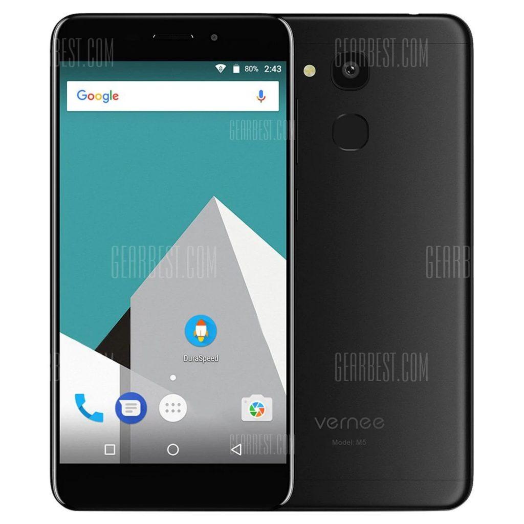 109 mit gutschein für vernee m5 4g smartphone schwarz von gearbest