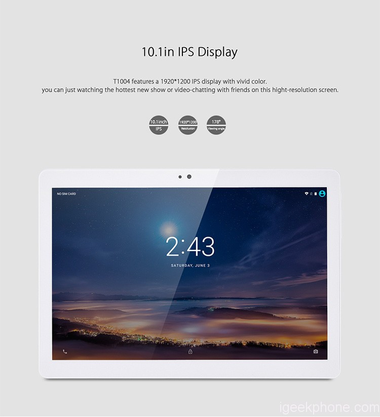 Flash Sale in EU Warehouse, T1004 MTK6753 4G Phablet Tablet Now in