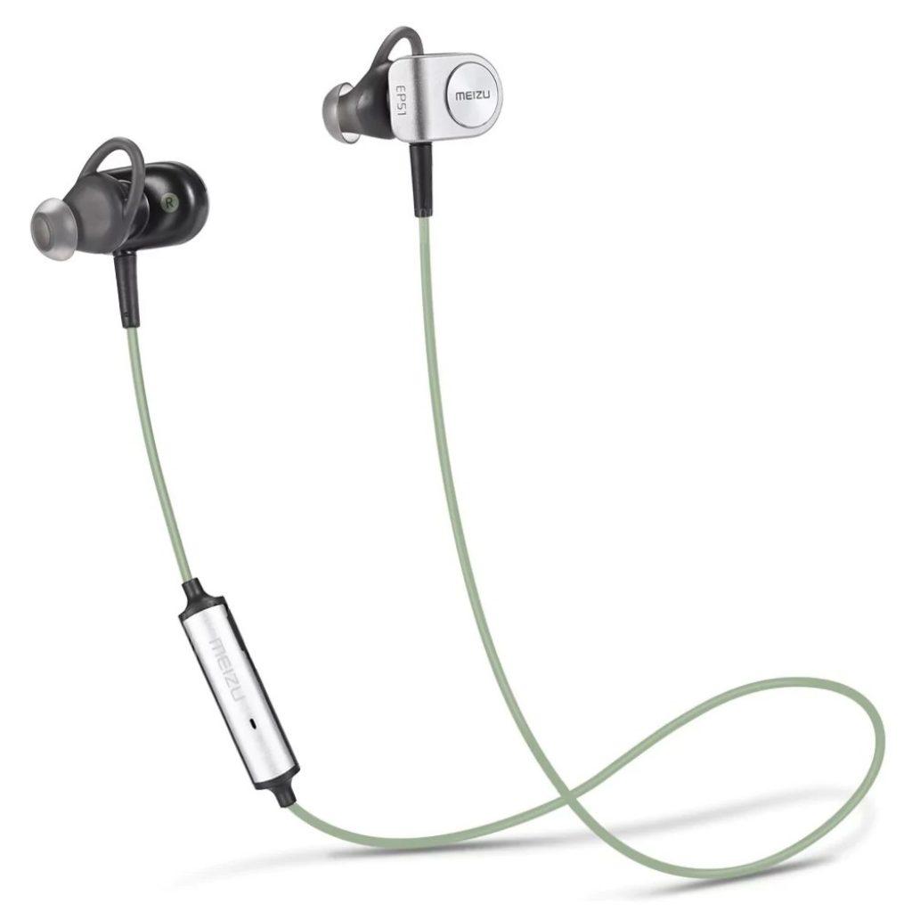 coupon, banggood, coupon, gearbest, Original Meizu EP51 Bluetooth HiFi Sports Earbuds - GREEN
