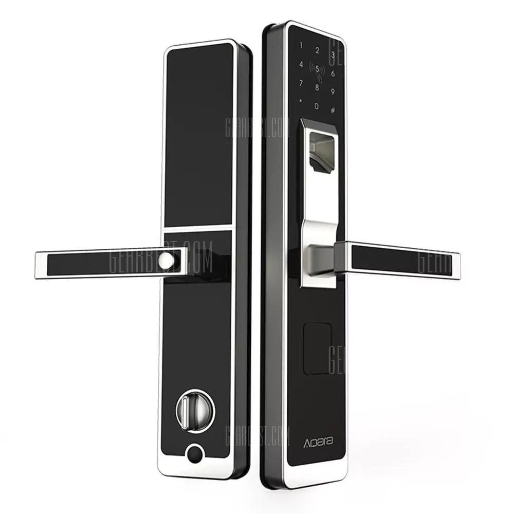 159 with coupon for aqara wifi fingerprint smart door lock for home security open on the. Black Bedroom Furniture Sets. Home Design Ideas