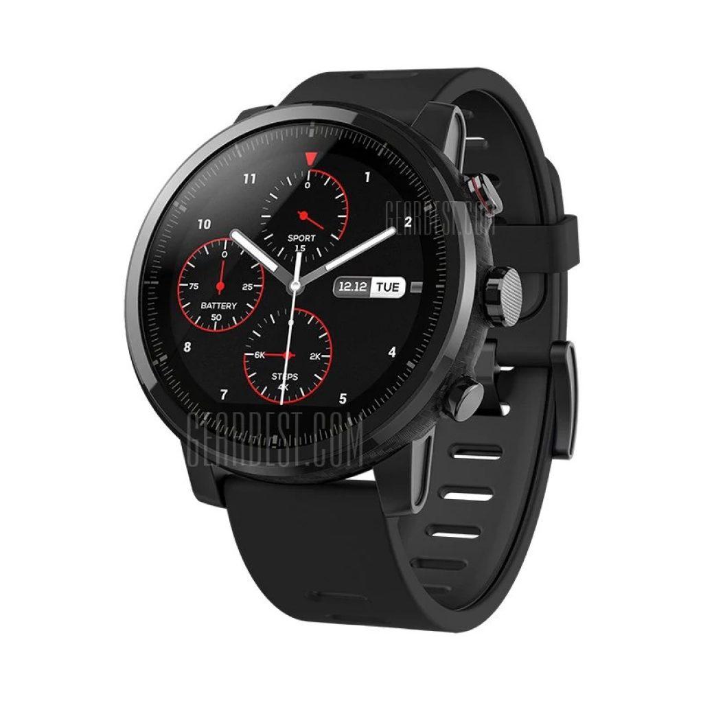 banggood, coupon, gearbest, Xiaomi Huami Amazfit Smartwatch 2 Running Watch - SILICONE BAND BLACK