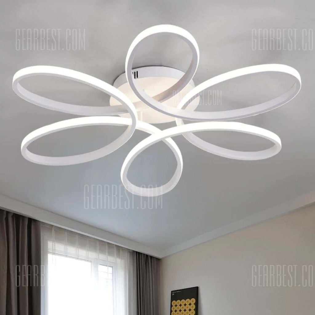74 With Coupon For Everflower Modern Simple Floral Shape Led Semi
