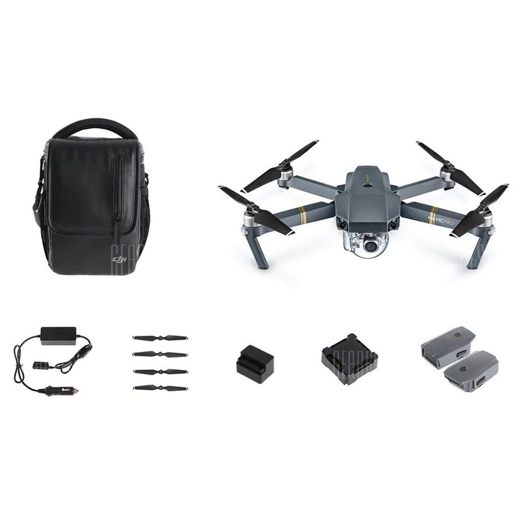 coupon, gearbest, DJI Mavic Pro Mini RC Quadcopter - MAVIC PRO COMBO GRAY