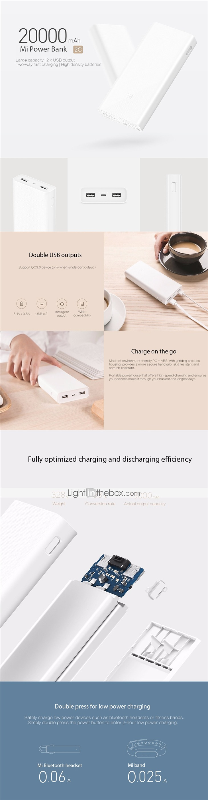 20 With Coupon For Original Xiaomi Mi 20000mah 2c Mobile Power Bank Powerbank Dual Ports Quick Charge Battery Portable Charger From Banggood China Secret Shopping Deals And