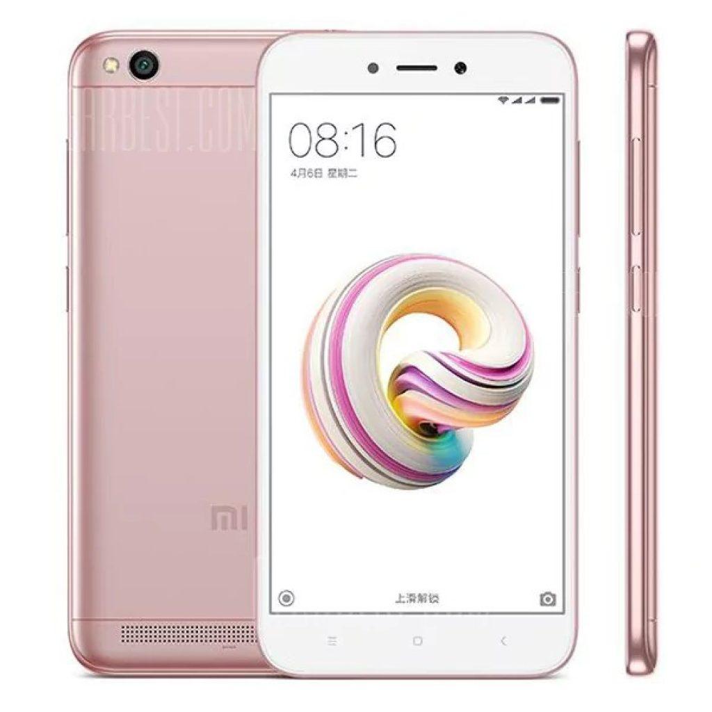 Image result for Xiaomi Redmi 5A 4G Smartphone Global Version - ROSE MADDER