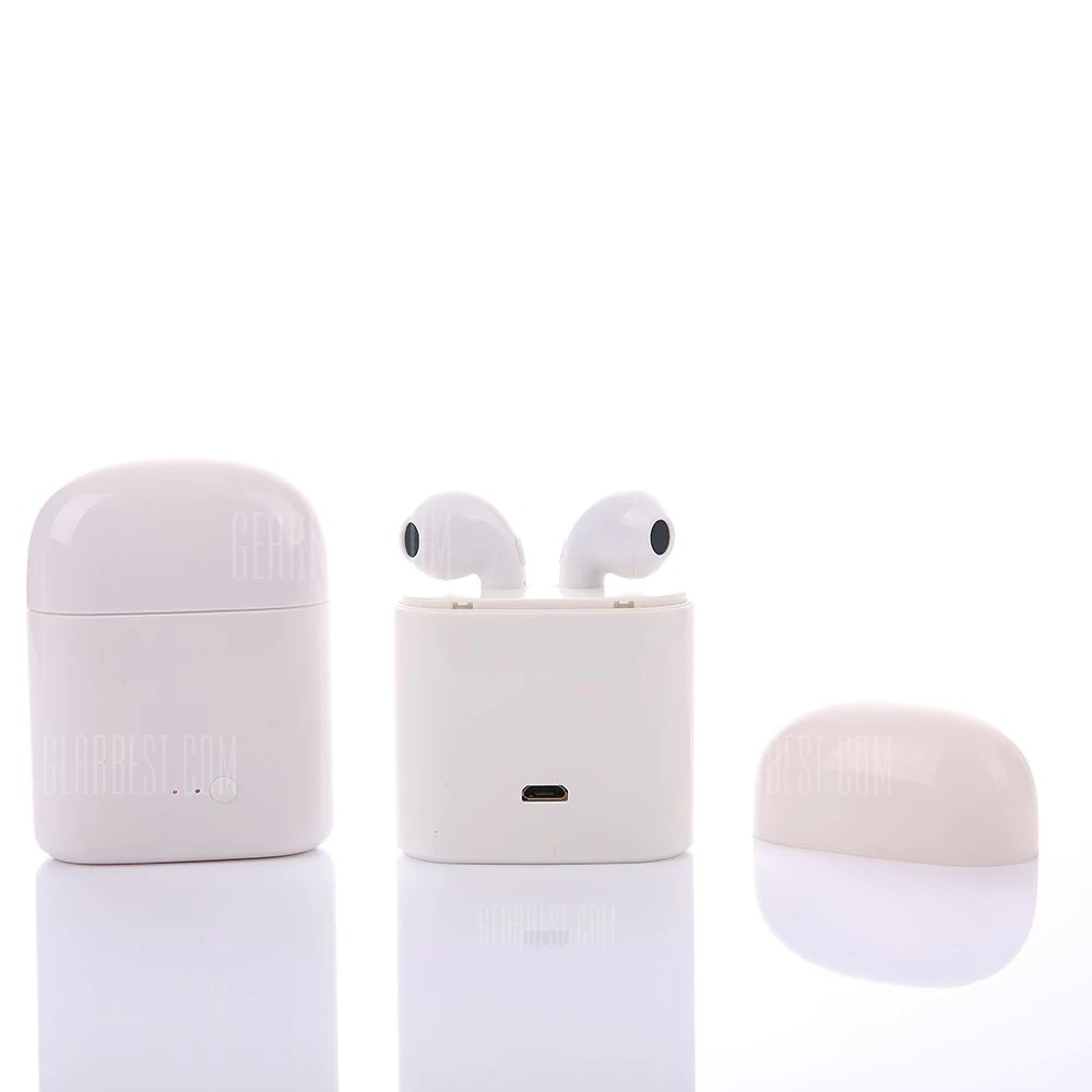 2 With Coupon For I7s Mini Tws Earphones Dual Wireless Bluetooth Earbuds White From Gearbest