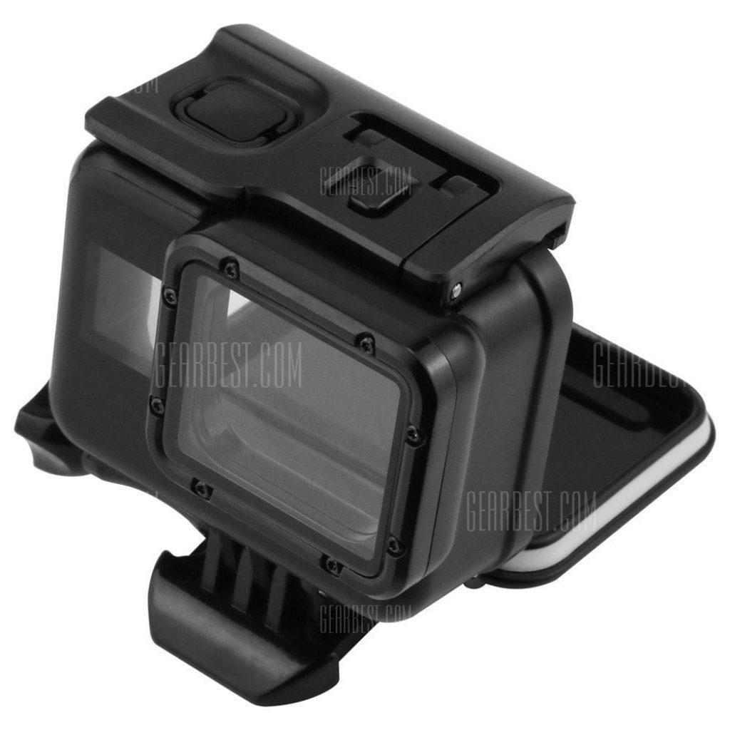 gearbest, 45m Diving Waterproof Case for GoPro Hero 6-5 Black Action Camera Underwater Housing Shell Mount