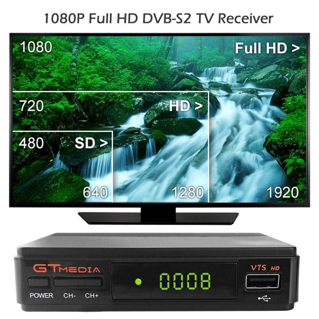 $24 with coupon for GTMEDIA V7S HD DVB-S2 Set Top Box TV