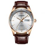 gearbest, Hot Sale Cadisen Men Watches Top Luxury Sapphire Glass 50M Waterproof Automatic Mechanical Business Role Style Watch - BROWN LEATHER BAND+WHITE DIAL