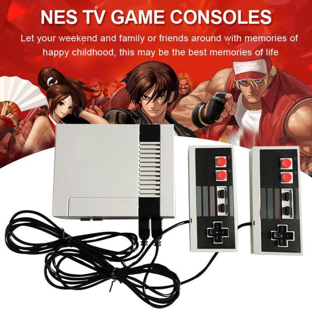 coupon, tomtop, NEW Mini Video Game Console Two Button TV Handheld Gaming with 2 Controllers for Nes 620 Built-in Classical Games