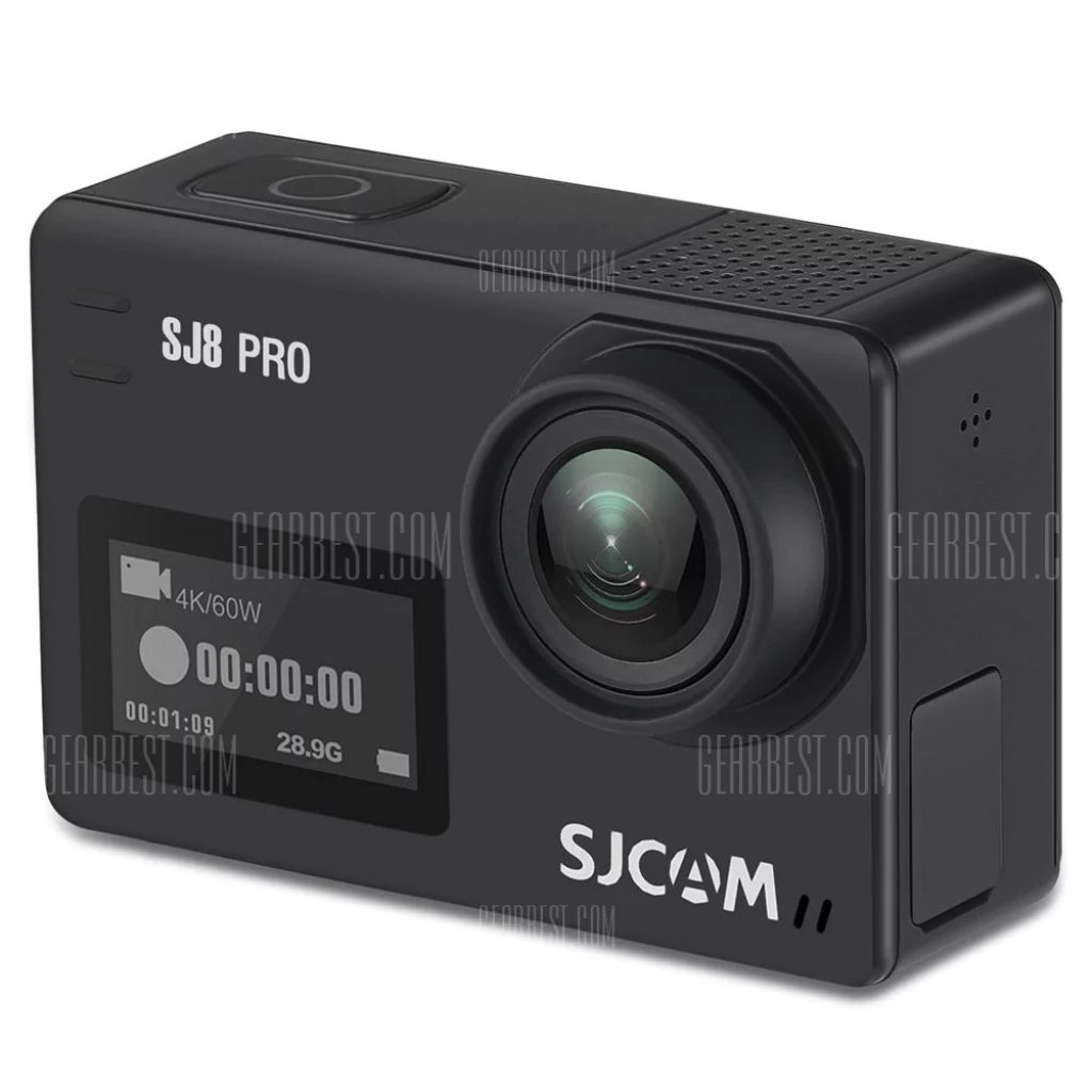gearbest, Original SJCAM SJ8 Pro 4K 60fps WiFi Action Camera - FULL SET BLACK