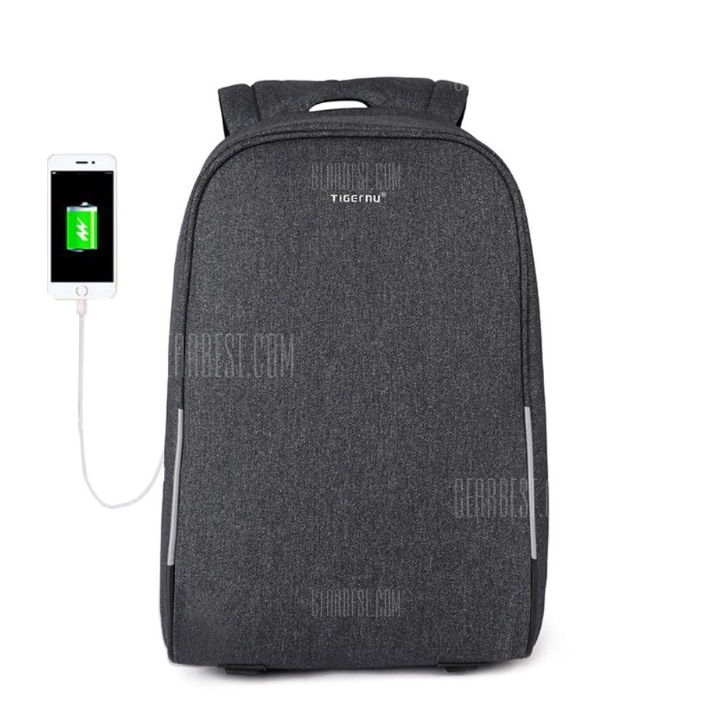 19 With Coupon For Tigernu Anti Theft 15 6inch Usb Laptop Backpack With Casual Men Backpack