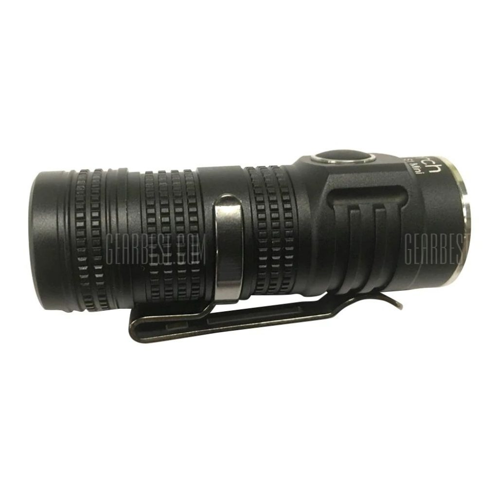 gearbest, Utorch S1 Mini CREE XP - L HI V3 LED Flashlight 5 Modes - 6500 - 7000K BLACK