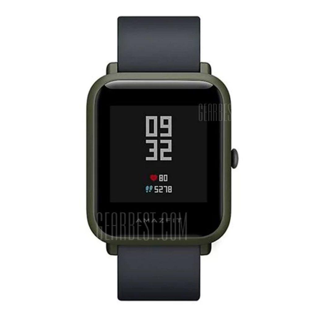 gearbest, Xiaomi Huami AMAZFIT Bip Lite Version Smart Watch - INTERNATIONAL VERSION DEEP GREEN