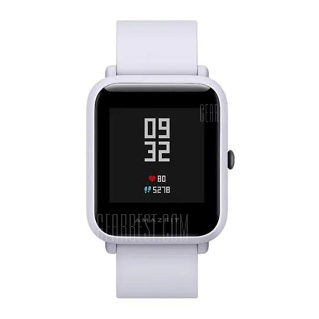gearbest, Xiaomi Huami AMAZFIT Bip Lite Version Smart Watch - INTERNATIONAL VERSION LIGHT GRAY