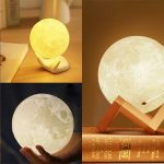 gearbest, 3D LED Magical Moon Lamp Touch Sensor USB Night Light