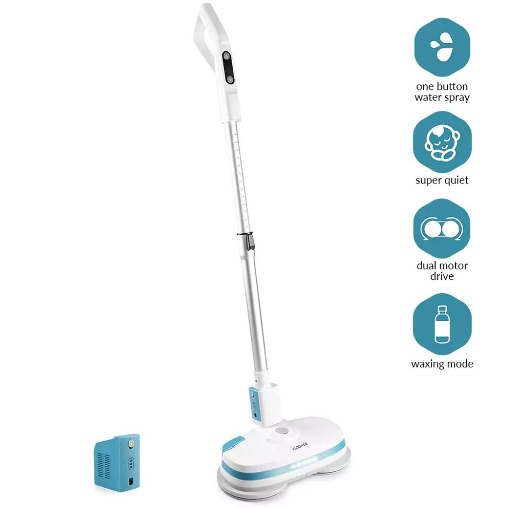 gearbest, ALBOHES MOP860 Cordless Dual Spin Electric Mop Floor Cleaner - WHITE EU PLUG