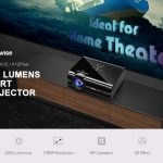 gearbest, Alfawise A12 2000 Lumens Android 6.0 Smart Projector - BLACK EU PLUG(WITHOUT OS)