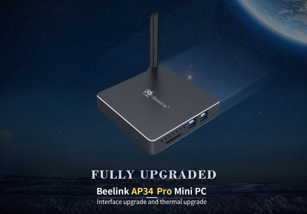 gearbest, Beelink AP34 Pro MiNi PC - BLACK EU PLUG