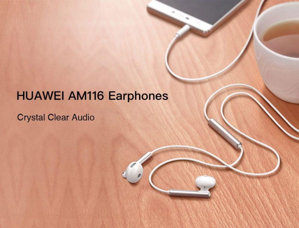 गियरबेस्ट, हूवेई AM116 इयरफ़ोन आधा कान कान फोन - सफेद