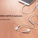 gearbest, HUAWEI AM116 Earphones Half In-ear Answering Phone - WHITE