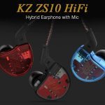 gearbest, KZ ZS10 HiFi Hybrid Earphone with Mic - RED WITH MICROPHONE