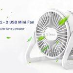 gearbest, ORICO FT1-2 Desktop Adjustable USB Mini Fan