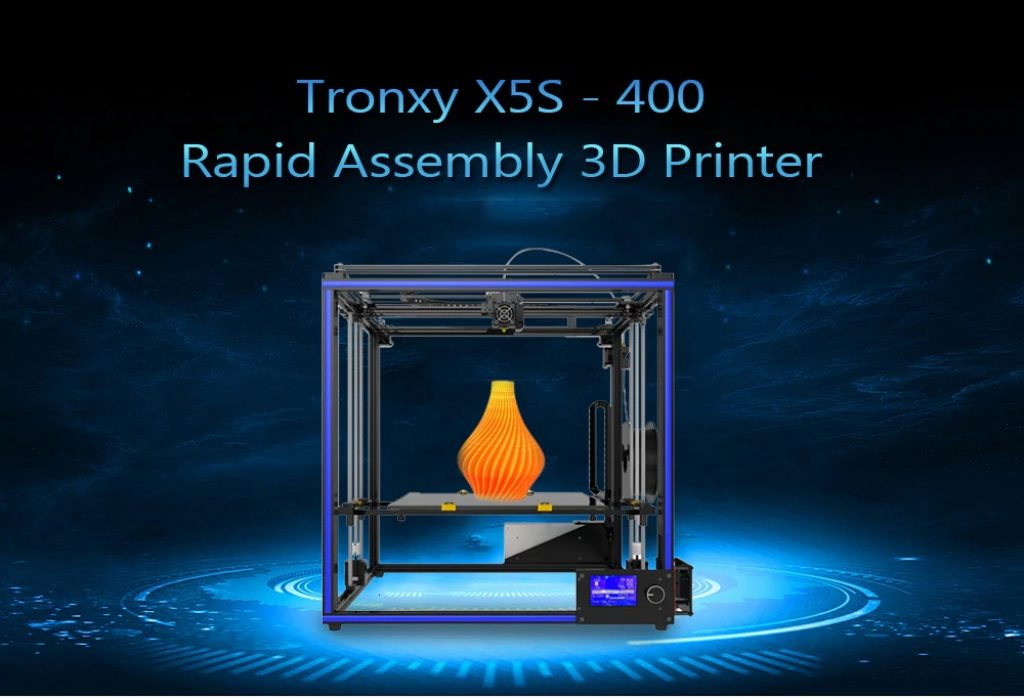 gearbest, Tronxy X5S - 400 High Accuracy Fast Speed Assembly Printer - BLACK EU PLUG