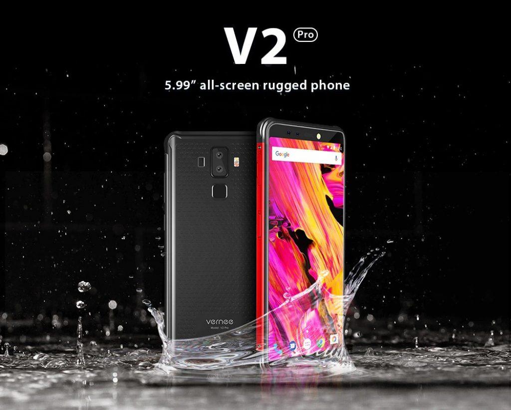 Gearbest, Vernee V2 Pro 4G Phablet - KIRMIZI