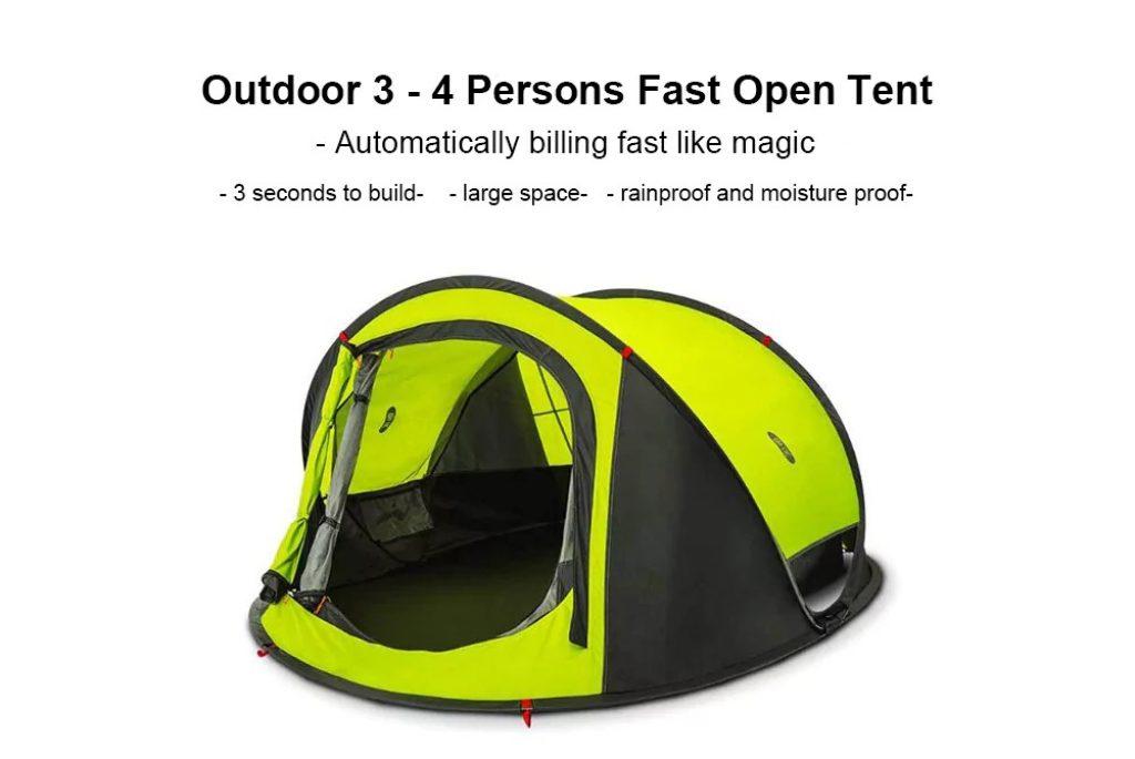 gearbest, Xiaomi Automatic Instant Pop up Waterproof Tent - AVOCADO GREEN