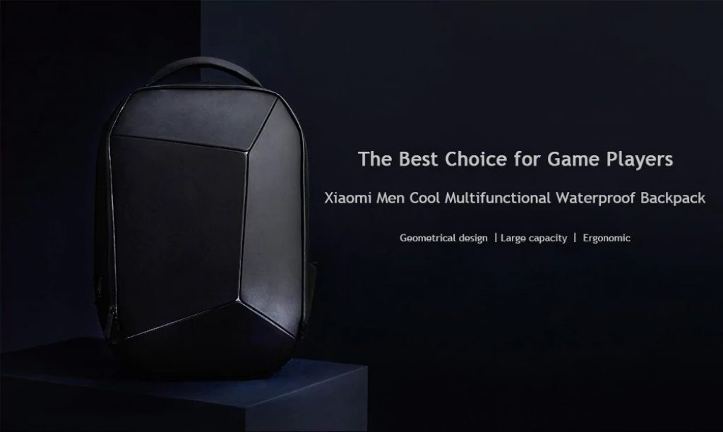 gearbest, Xiaomi Men Cool Style Multifunctional Waterproof Backpack