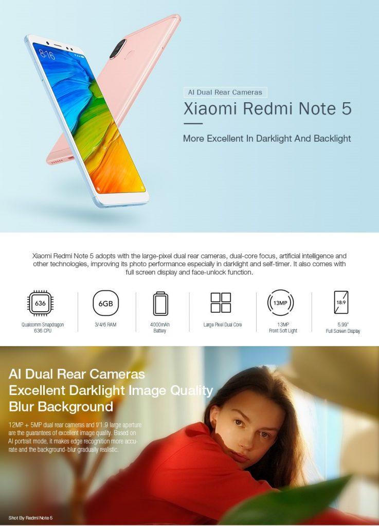 Xiaomi redmi note 5 geekbuying