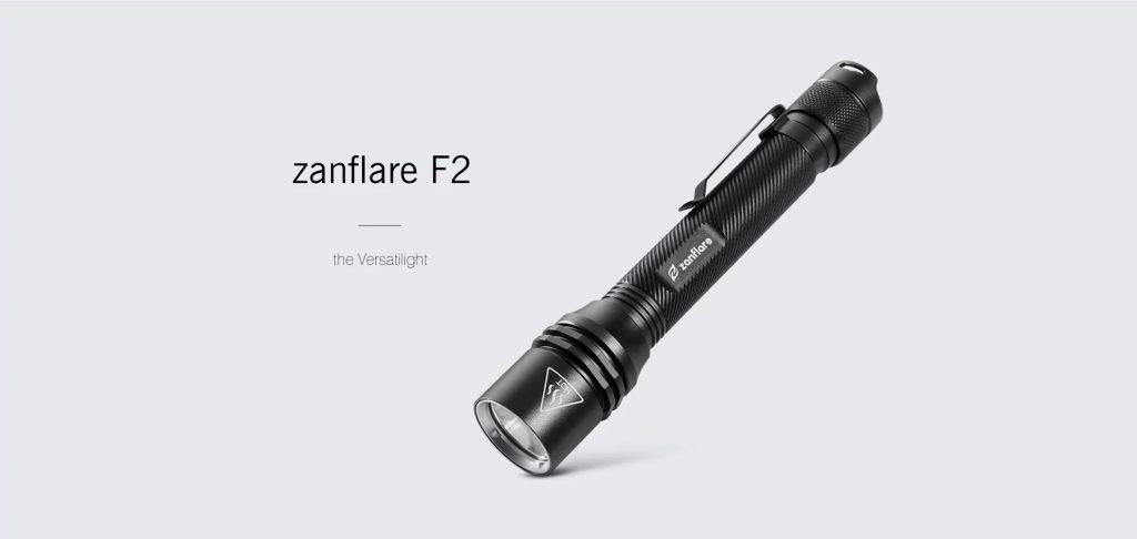 गियरबेस्ट, ज़ैनफ्लारे F2 एलईडी फ्लैशलाइट - ब्लैक 6000-6500K