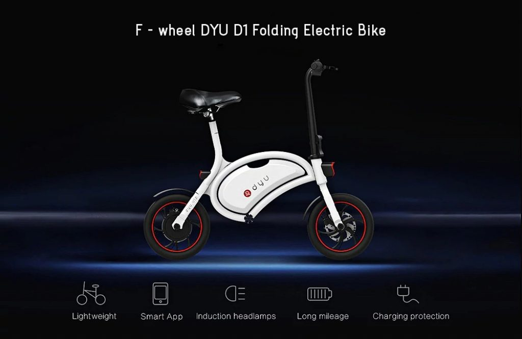 gearbest, F - wheel D1 DYU Electric Bike
