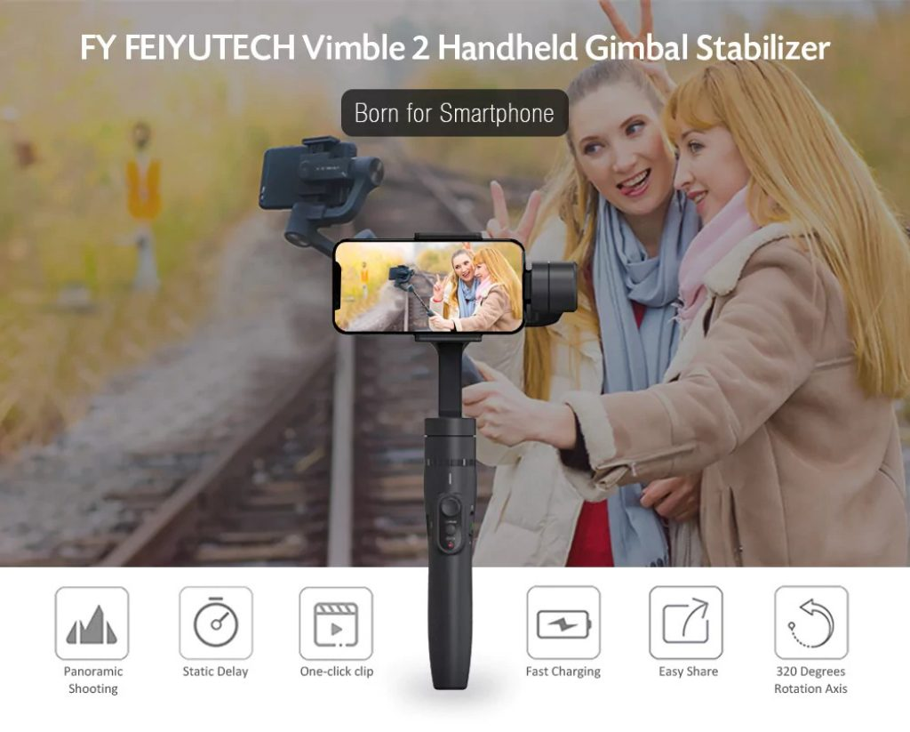 gearbest, FY FEIYUTECH Vimble 2 Handheld Gimbal Stabilizer - GRAY