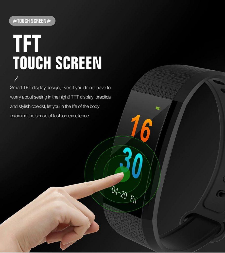 gearbest, I9 Smart Bracelet - BLACK