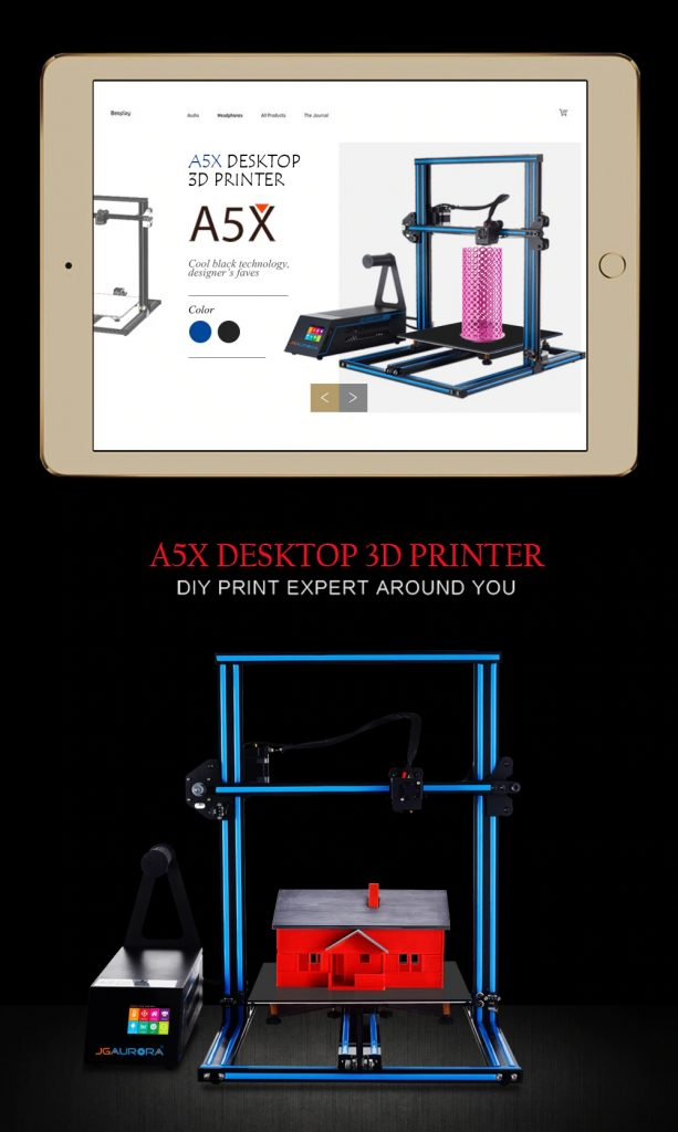 coupon, gearbest, JGAURORA A5X 3D Printer Kit
