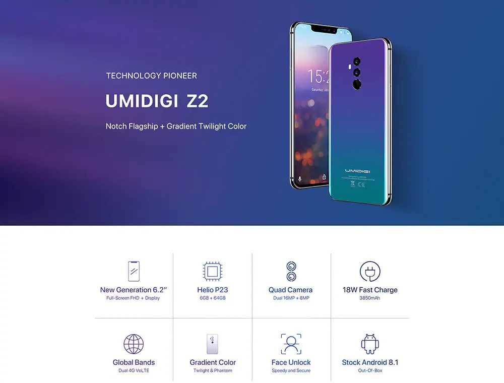 8f41da0d522 €182 with coupon for UMIDIGI Z2 4G Phablet 6GB + 64GB - BLACK from GearBest  - China secret shopping deals and coupons