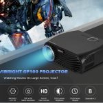 gearbest, VIVIBRIGHT GP100 LCD Home Theater Cinema Projector - BLACK EU PLUG
