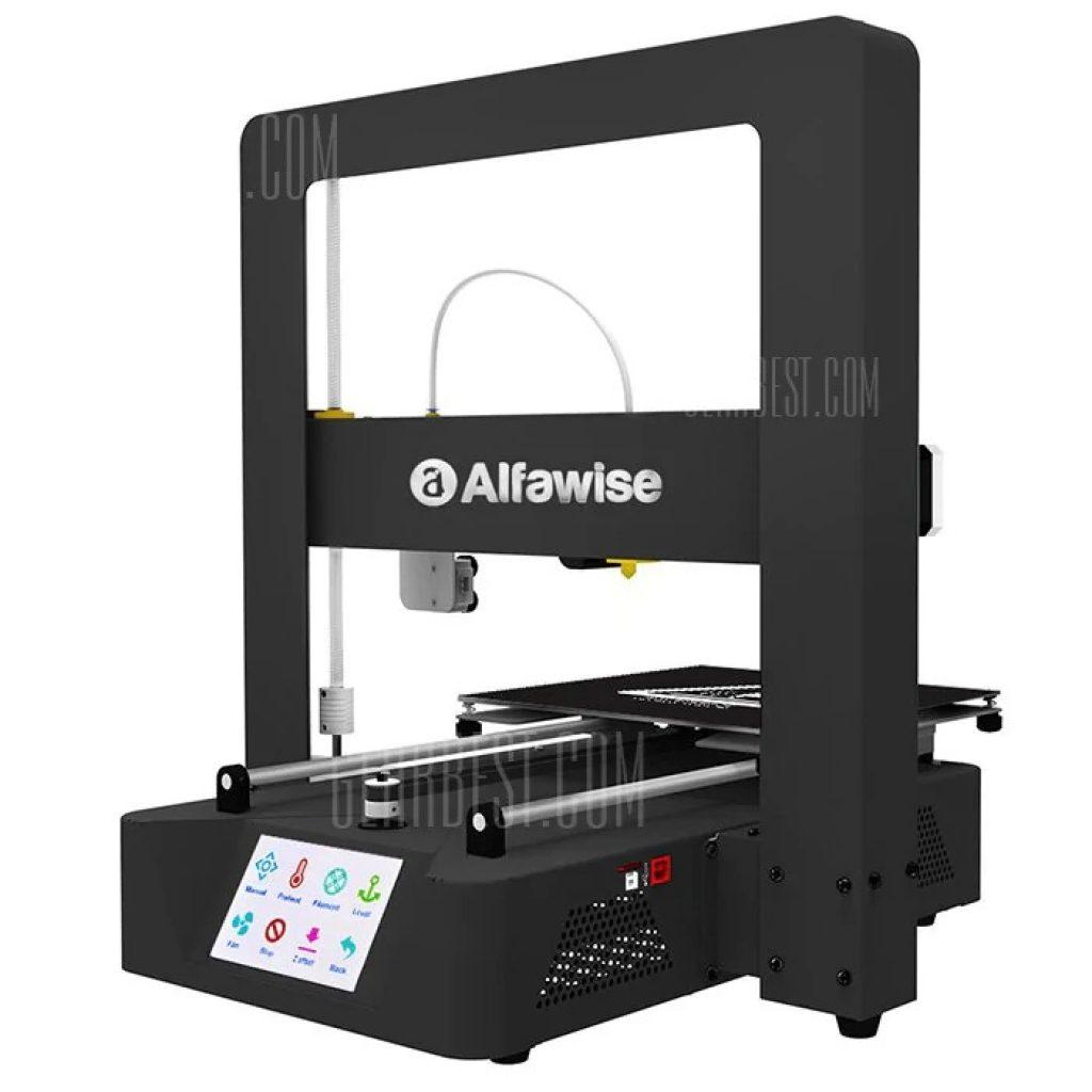 kupon, gearbest, Alfawise X6A Logam dengan cepat 3D DIY Printer