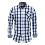 coupon, gearbest, FREDD MARSHALL Man Casual Plaid Long Sleeve Shirt