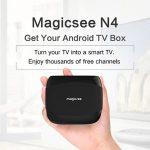 coupon, gearbest, MAGICSEE N4 TV Box Support 4K H.265 - BLACK 2GB + 16GB ( EU )