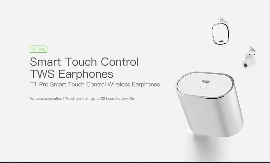 862b8d0b4e6 $29 with coupon for QCY T1 Pro TWS Touch Control Bluetooth Earphones ...
