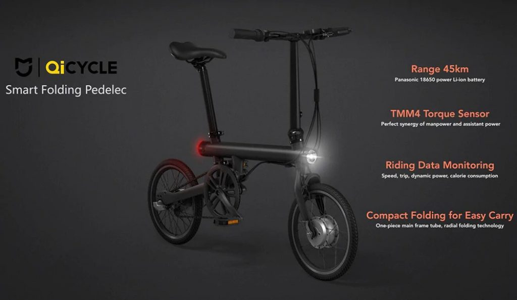 coupon, gearbest, QICYCLE Folding Moped Electric Bike from Xiaomi Youpin