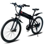 coupon, gearbest, Samebike LO26 Electric Moped Bicycle Smart Folding Bike - BLACK EU PLUG